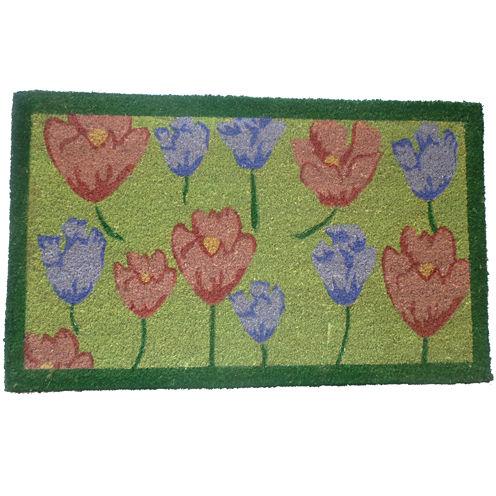 """Tulips Rectangle Doormat - 18""""X30"""""""