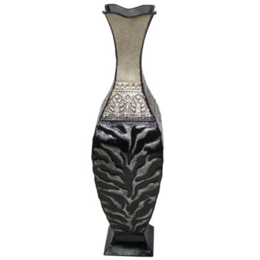 "jcpenney.com | 17"" Black and Ivory Animal Print Vase"