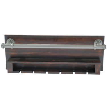 jcpenney.com | Industrial Wine Rack Wall Decor