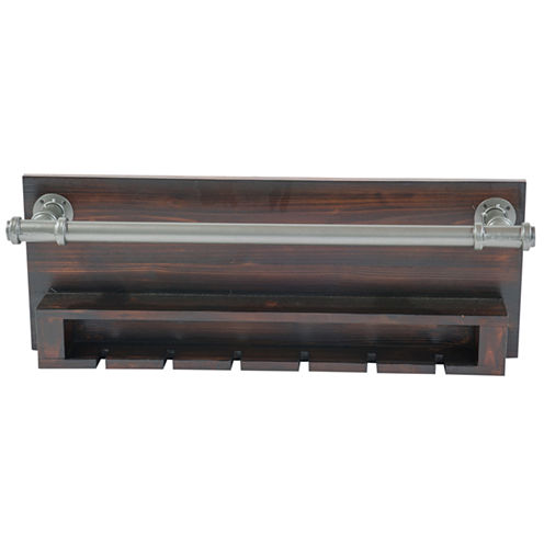 Industrial Wine Rack Wall Decor