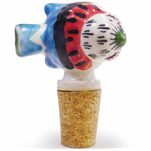 Epicureanist Fish Ceramic Wine Bottle Topper