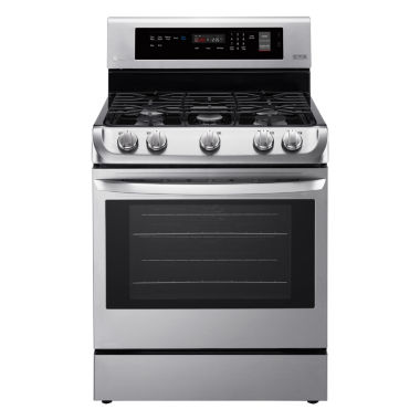 jcpenney.com | LG 6.3 cu. ft. Capacity Freestanding Single Oven Gas Range with ProBake Convection™ and EasyClean®