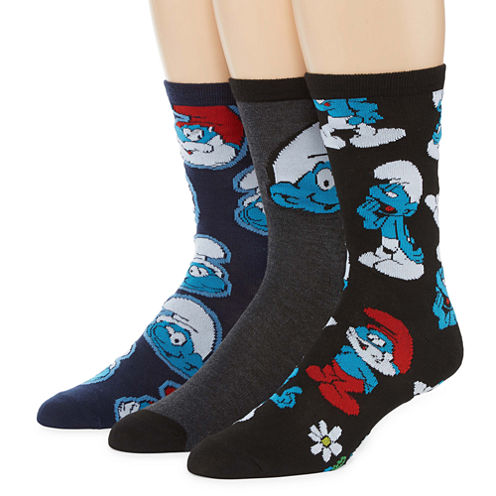The Smurfs™ 3-pk. Crew Socks