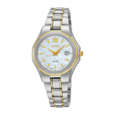 jcpenney.com | Seiko® Womens Two-Tone Stainless Steel Solar Bracelet Watch SUT226