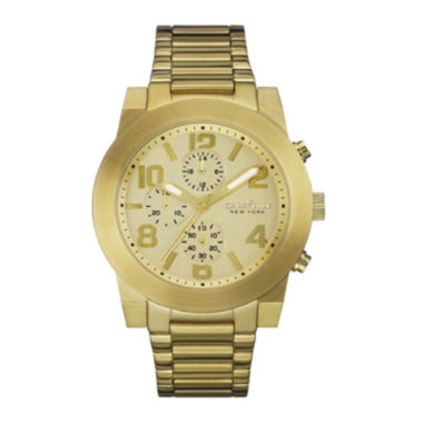 jcpenney.com | Caravelle New York® Mens Gold-Tone Stainless Steel Sport Watch 44A105