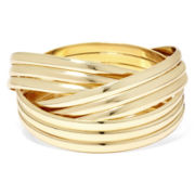 Bold Elements Smooth Metal Bangle Set