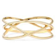 Bold Elements Gold-Tone Layered Bangle Bracelet