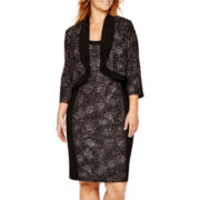 R&M Richards 3/4-Sleeve Jacket Dress - Plus