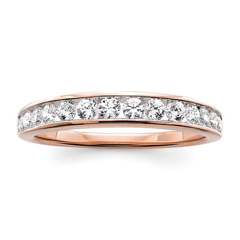 1/2 CT. T.W. Diamond 10K Rose Gold Wedding Band