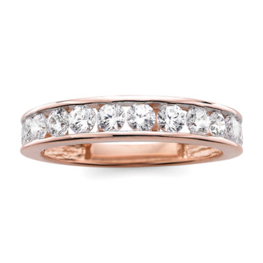 jcpenney.com | 1 CT. T.W. Diamond 10K Rose Gold Wedding Band