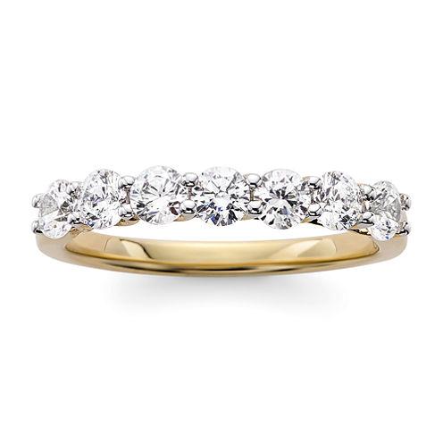 1 CT. T.W. Diamond 14K White Gold 7-Stone Wedding Band