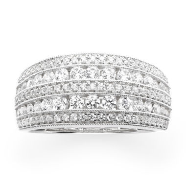 jcpenney.com | 1 CT. T.W. Diamond 10K White Gold Anniversary Ring