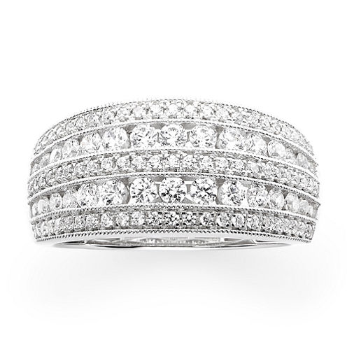 1 CT. T.W. Diamond 10K White Gold Anniversary Ring