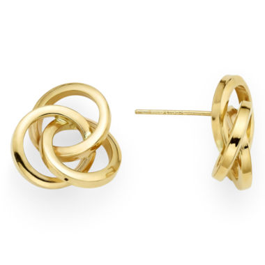 jcpenney.com | 14K Yellow Gold Love Knot Earrings