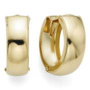 14K Yellow Gold 12.5mm Hinged Hoop Earrings