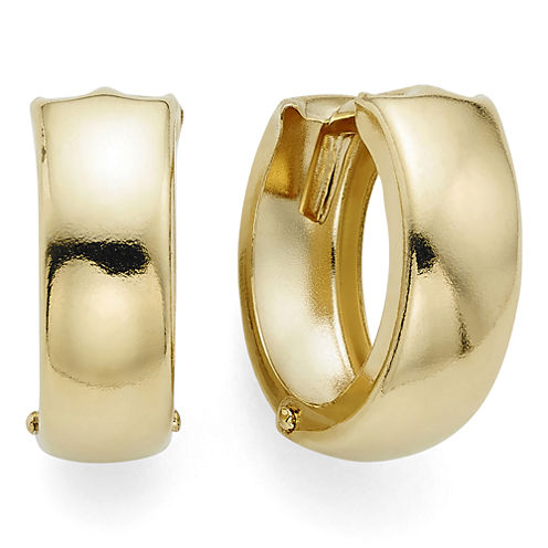 14K Yellow Gold 12.5mm Hinged Hoop Earrings