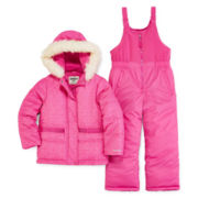 OshKosh B'gosh® Jacket and Snow Bib Set - Preschool Girls 4-6x
