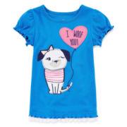 Okie Dokie® Graphic Tee - Toddler Girls 2t-5t
