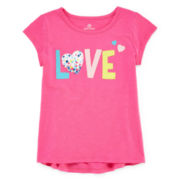Okie Dokie® High-Low Graphic Tee - Toddler Girls 2t-5t