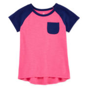 Okie Dokie® Raglan Tee - Toddler Girls 2t-5t