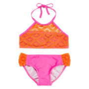 Malibu 2-pc. Diamond Swimsuit - Girls 7-16