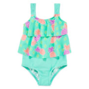 Malibu Pineapple Paradise Swimsuit - Toddler Girls 2t-4t