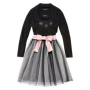 Disorderly Kids® Ballerina Dress & Cardigan - Girls 7-16 and Plus