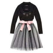 Disorderly Kids® Ballerina Dress & Cardigan - Girls 7-16 and Plus