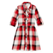 Arizona Ruffle Shirt Dress - Girls 7-16 and Plus