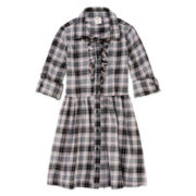Arizona Ruffle Shirt Dress - Girls 7-16