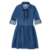 Arizona Ruffle Shirt Dress - Girls 7-16