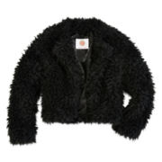 Total Girl® Faux-Fur Cardgian - Girls 7-16