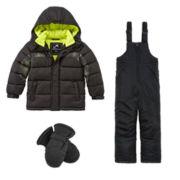 Vertical 9 Puffer Jacket, Snow Bib or Ski Mittens - Preschool Boys 4-7