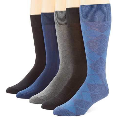 Stafford® 5-pk. Cotton-Rich Crew Socks
