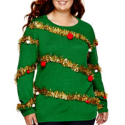 Ransom Long-Sleeve Holiday Sweater - Plus