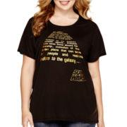 Star Wars® Short-Sleeve High-Low Tunic T-Shirt - Juniors Plus