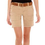 Unionbay® Frayed Bermuda Shorts