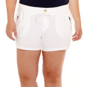 Arizona Poplin Shorts - Juniors Plus