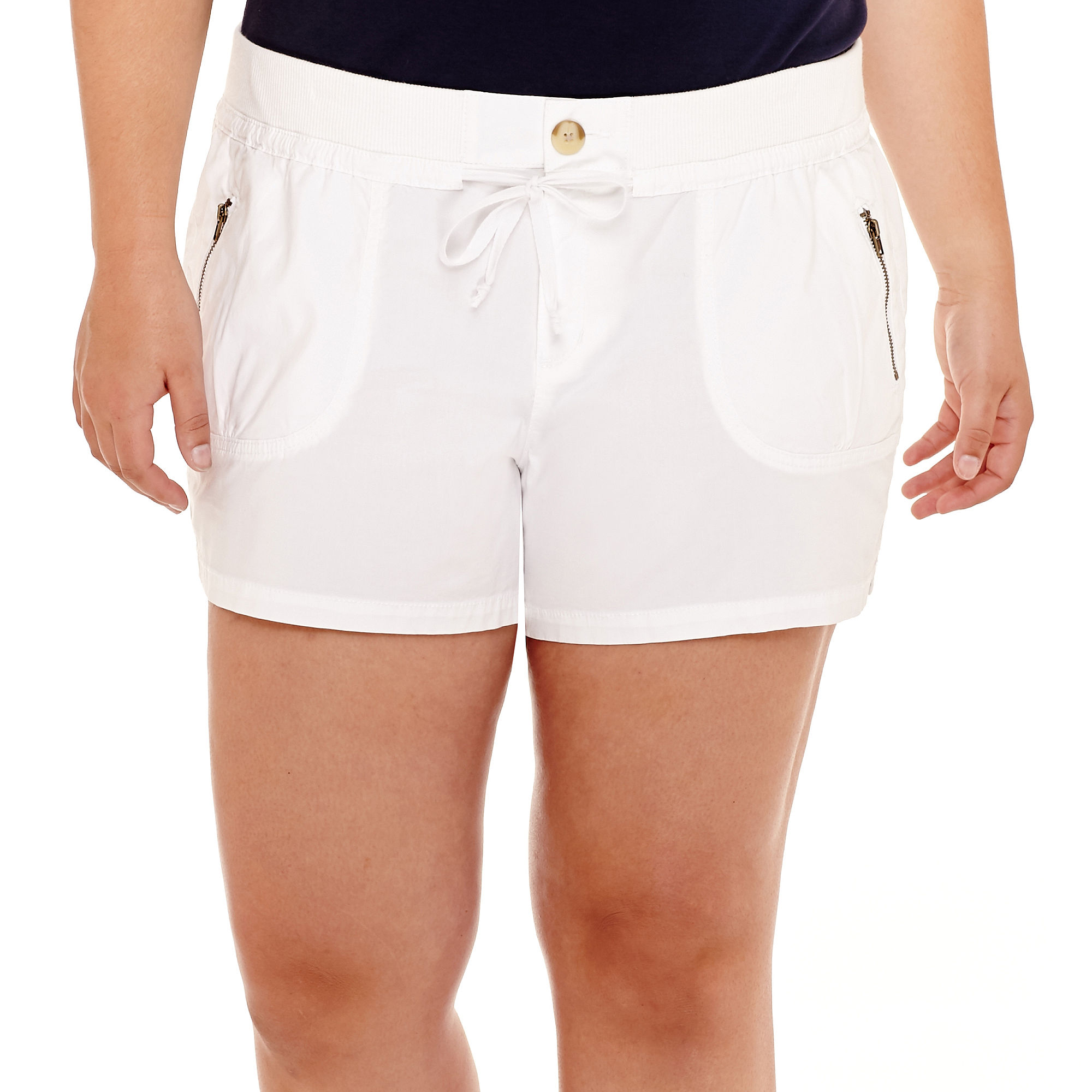 Arizona Poplin Shorts - Juniors Plus plus size,  plus size fashion plus size appare