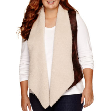 jcpenney.com | Arizona Sherpa-Lined Vest - Juniors Plus