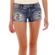 Arizona Raw-Hem Denim Shorts
