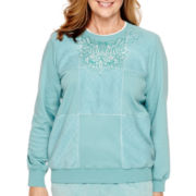Alfred Dunner® Aurora Borealis Long-Sleeve Fleece Top