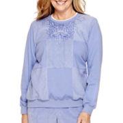 Alfred Dunner® Aurora Borealis Long-Sleeve Fleece Top
