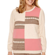 Alfred Dunner® Lake Zurich Long-Sleeve Colorblock Top