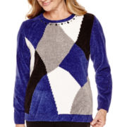 Alfred Dunner® Madrid Long-Sleeve Colorblock Chenille Sweater