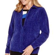 Alfred Dunner® Madrid Long-Sleeve Chenille Cardigan