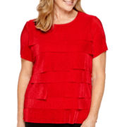 Alfred Dunner® Madrid Short-Sleeve Tiered Top