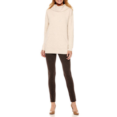jcpenney.com | Liz Claiborne® Cowlneck Quilted Tunic or Secretly Slender™ Ankle Leggings