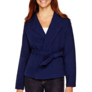 Liz Claiborne® Belted Jacket - Tall