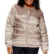Liz Claiborne® Puffer Bomber Jacket - Plus